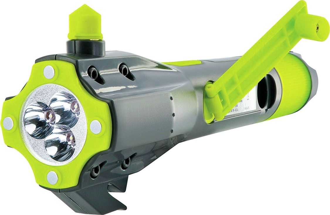 SCHWAIGER Notfallhammer mit Gurtschneider, Taschenlampe, Mini-Powerbank