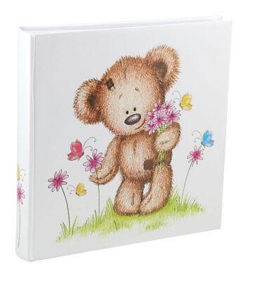Teddy Schmetterling Fotoalbum 30x30 cm 100 weiße Seiten Baby Foto Album Fotobuch