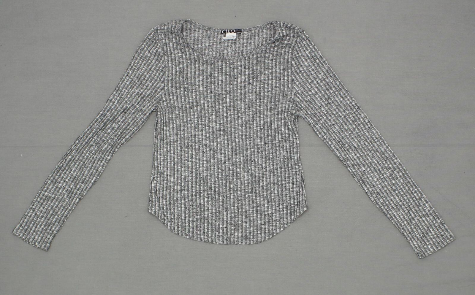new Cleo Women's Long Sleeve Lo Hi Knit Top Blouse Shirt