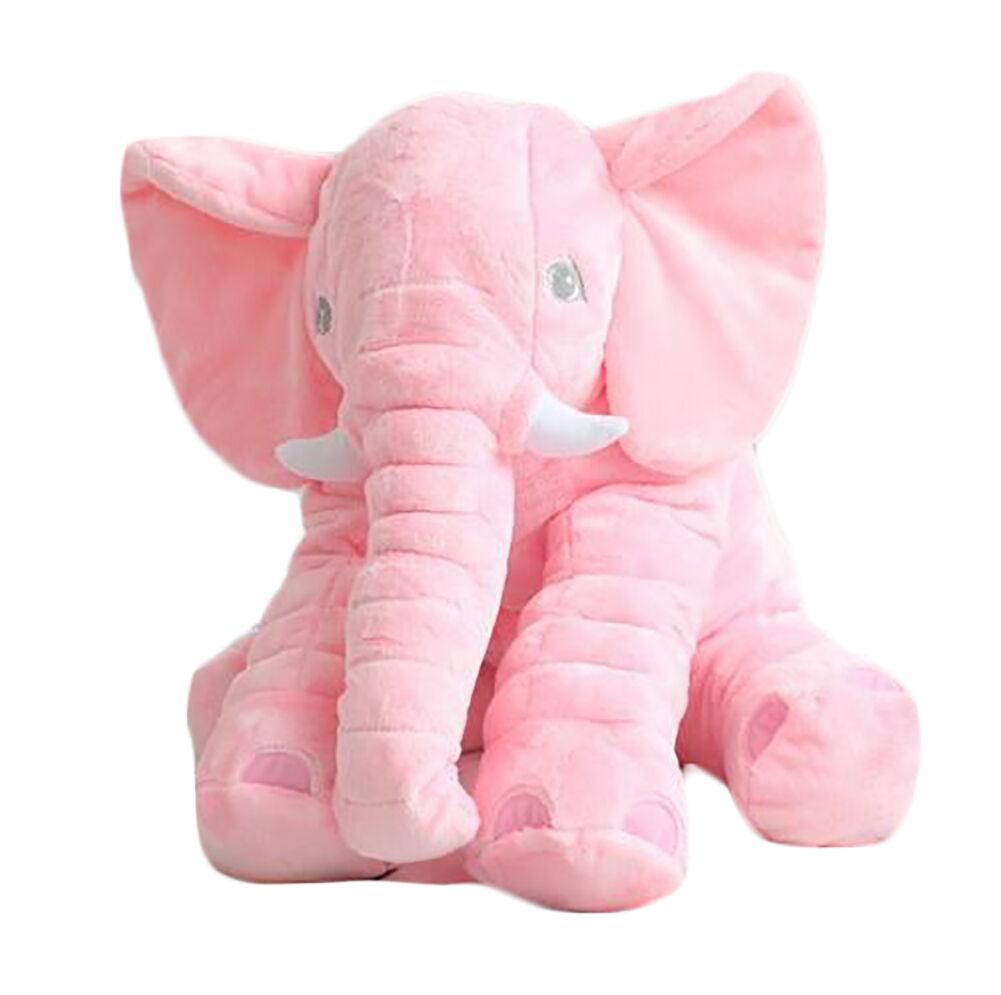 Large Pink Elephant Pillow Cushion Plush Baby soft Toy