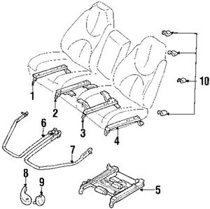 Dodge Chrysler 2003 Durango Seats Tracks Seat Adjuster