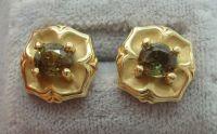 1.35ct Genuine Natural Alexandrite Stud Gold Earrings ...