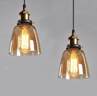 Vintage Retro Globe Glass Shade Pendant Light Ceiling Lamp ...