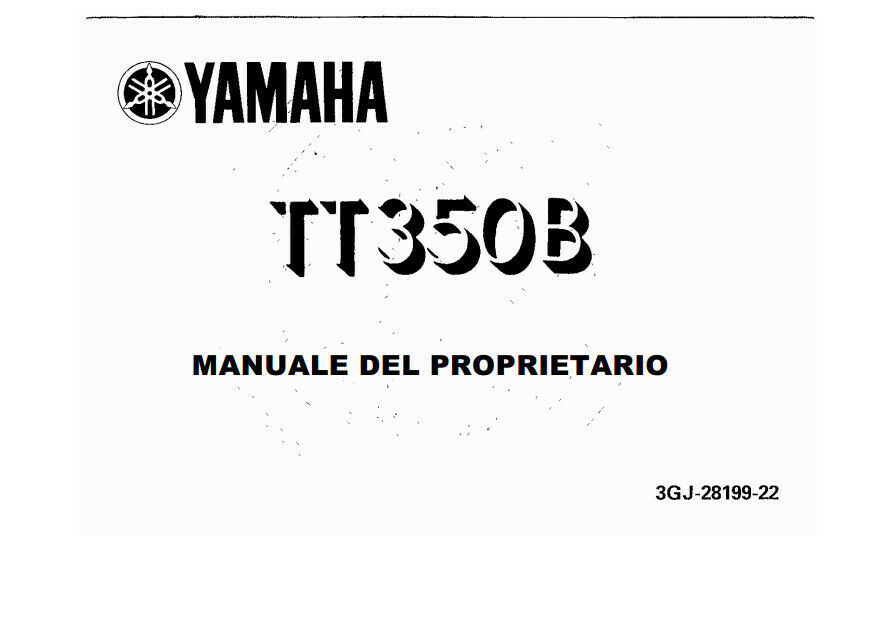 Manuale officina Yamaha TT350 e XT350S in... a Lucca