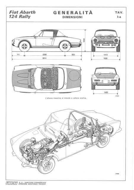 Manuale Dati Officina Fiat 124 Abarth Rally... a Trequanda