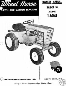 Wheel-Horse-Raider-10-Owners-Manual-Model-1-6041