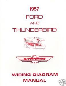 1957 FORD THUNDERBIRD WIRING DIAGRAM MANUAL