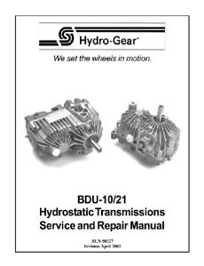 Hydro-Gear-BDU-10-21-Hydrostatic-Trans-Repair-Manual