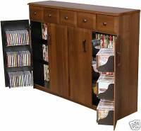 CD DVD Storage Cabinet Rack TV Stand w Drawers New | eBay