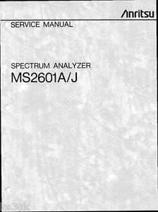 Download free Anritsu Ms 2601 Manual software