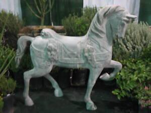 4 ft carousel horse fiberglass