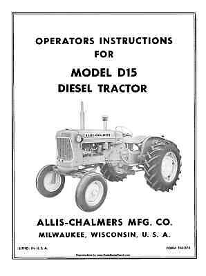 Allis-Chalmers-D15-D-15-Diesel-Tractor-Operators-and
