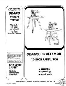 Sears-Craftsman-Table-Saw-Manual-Model-113-196321