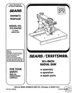 Sears-Craftsman-Radial-Arm-Saw-Manual-No-113-234700