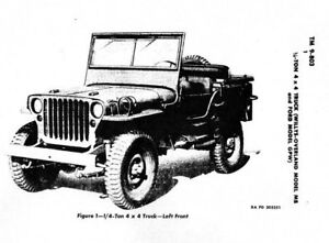 WWII-MANUAL-Army-WILLYS-JEEP-Model-MB-Ford-GPW-1944