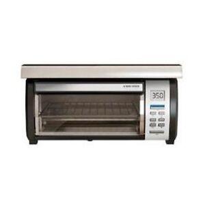 Black Amp Decker TROS1000 Spacemaker Digital Toaster Oven Under Cabinet TROS1500  eBay