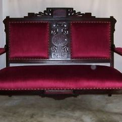 Where To Buy Sofa In Jb Old Leather Sofas Uk Eastlake Victorian Arts Crafts Walnut Settee Loveseat ...