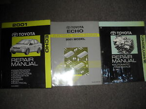 2001 TOYOTA ECHO Service Repair Shop Manual SET W Wiring