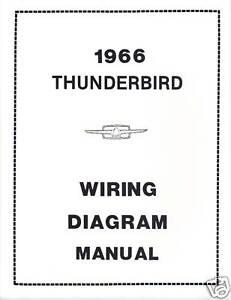 1966 FORD THUNDERBIRD WIRING DIAGRAM MANUAL | eBay