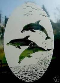 DOLPHIN Vinyl Window Decoration / Static Cling / Window ...