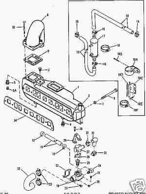 New-OEM-MerCruiser-4-cylinder-3-0-3-0L-Exhaust-Manifold