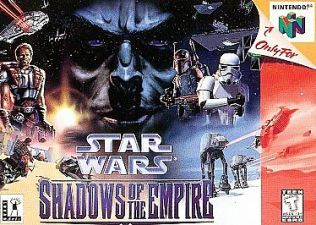 Star Wars: Shadows of the Empire N64 game cover box art