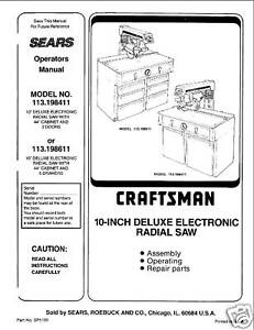 Sears-Craftsman-Radial-Arm-Saw-Manual-No-113-198411
