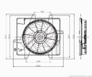 2001-2005-Chrysler-PT-Cruiser-Cooling-Fan-Assembly