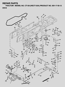HUSQVARNA MANUAL GEAR TRANSMISSION DRIVE BELT CT130 CT135
