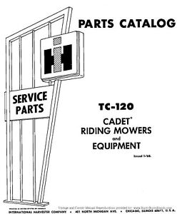 Cub-Cadet-60-Riding-Mower-Parts-Manual-TC-120