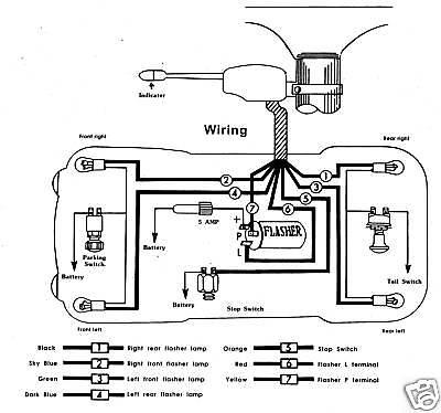 Universal Turn Signal Switch 3pc Kit New Chevy Ford 6V | eBay