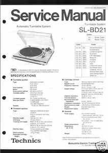 Technics Original Service Manual für SL-BD21 SL BD 21