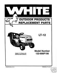 White-LT-12-Lawn-Tractor-Parts-Manual-Model-132-666F190