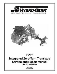 Hydro-Gear-EZT-ZC-ZD-Models-Transaxle-Repair-Manual
