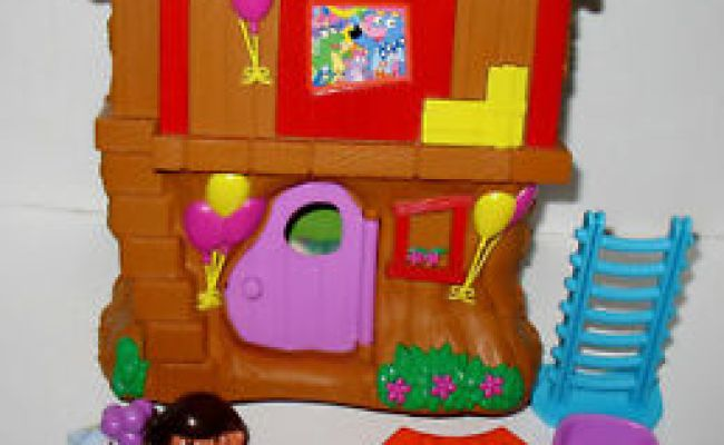 Dora The Explorer Treehouse Let S Go Adventure Playset Ebay