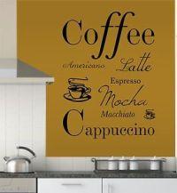 Coffee Quote Vinyl Wall Art Sticker Decal Mural, Kitchen ...