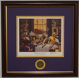 LSU Tigers Football Fighting Tiger Traditions 2 framed