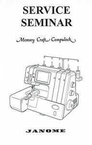 Janome Memory Craft Compulock 888 Serger Overlock Service