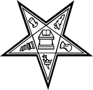Eastern Star Masonic Vinyl Decal Sticker Car Window Wall