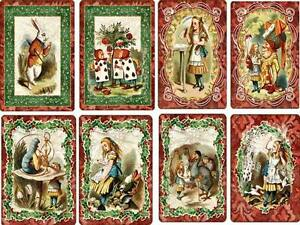 Vintage Inspired Alice In Wonderland Christmas Card