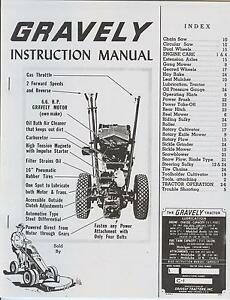 Gravely Garden Tractor Manual free download programs