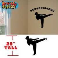 Taekwondo Girl Personalized Martial Arts decal, Taekwondo ...