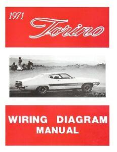 FORD 1971 Torino Wiring Diagram Manual 71 | eBay