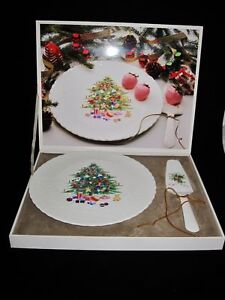 Mikasa Bone China CHRISTMAS SPIRIT Cake Plate Amp Server EBay