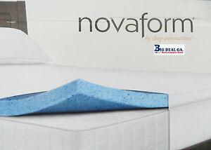 Image Is Loading Novaform Gel Memory Foam 3inch Mattress Topper 100