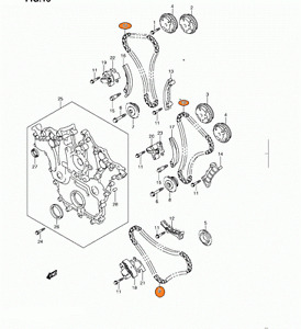 2007 2009 Suzuki XL7 Timing Chain Kit 12799 78811