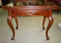 Antique Swivel Flip Top Game Table Stand Ball and Claw ...