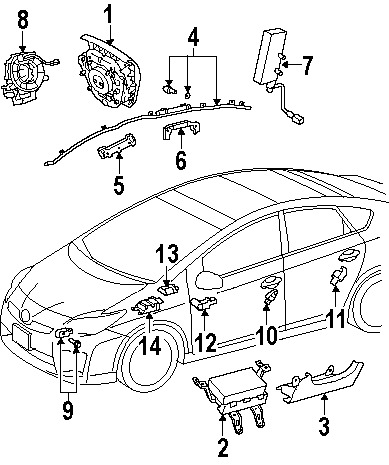 2008 Toyota Prius Dash Diagram, 2008, Free Engine Image