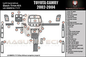 FITS TOYOTA CAMRY 2002-2004 W/O NAVIGATION LARGE WOOD DASH