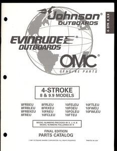 1997 OMC /JOHNSON / EVINRUDE 4 STROKE 8 & 9.9 HP OUTBOARD